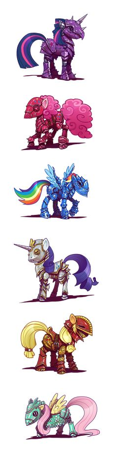 Armure Raimbow Dash, Rarity, Pinkie Pie and Twilight Sparkles Mlp My Little Pony, My Little Pony Friendship, Rainbow Dash, Imagenes My Little Pony, Little Poni, Mlp Fan Art, Pony Drawing, My Little Pony Pictures, Mlp Pony