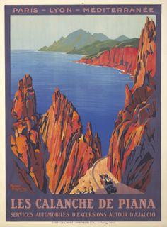 FRANCE - Calanche de Piana en Corse. Roger Broders 1923  #Vintage #Travel