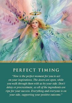 Oracle Card Perfect Timing | Doreen Virtue | official Angel Therapy Web site