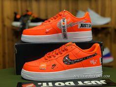 promo code 79149 07264 Nike Air Force 1 Low 07 Premium Just Do It Pack Total Orange AF1 AR7719 800
