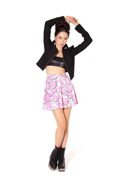Watermelon Skater Skirt by Black Milk Clothing