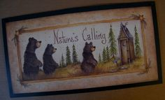 Check out our home décor selection for the very best in unique or custom, handmade pieces from our shops. Running Bear, Country Baths, Outhouse Decor, Camping Gifts, The Old Days, Cabin Fever, Country Primitive, Black Bear, Nativity