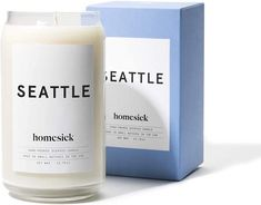 If you've ever smelled something and thought of home, Homesick candles are helping to bring those scents to your home with their cities, states and country candles. Their Seattle Candle is one described as a strong cup of coffee combined with pine needles and lemon.