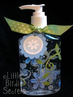 Embellished Hand Sanitizer Bottle