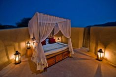 Fall asleep under the stars to the lullaby of distant roaring lions. Kenya's Ol Donyo Lodge is 40km from Mount Kilimanjaro and has some of the most sublime views in Africa. A guaranteed night to remember.  Visit naturalhighsafaris.com.   - HarpersBAZAAR.com