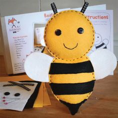 Beatrice the Bee Felt Sewing Kit