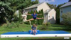 Gymnastics Moves, Tumbling Gymnastics, Gymnastics Videos, Tumbling Tips, Volleyball, Cheerleading, Acro, Flipping, Tik Tok