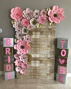 Paper Flower Backdrop, Paper Flowers, Grad Parties, Backdrops, Bridal Shower, Frame, Handmade, Etsy, Instagram