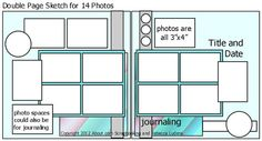 Scrapbooking with Lots of Photos - Winter Scrapbooking Idea with Free Sketch: Free Double Page 12x12 Inch Scrapbook Page Sketch for Lots of Photos