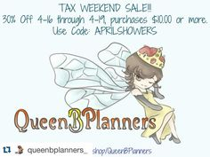 Hey guys go check out QueenBPlanners on etsy and shop her sale! She has some really cute stuff and awesome prices! I tagged her in the photo as well so go show her some love on her Instagram page and you can find her shop link there as well! #Repost @queenbplanners_ with @repostapp.  Time for a sale! Shop link in profile! #colorcrush #eclp #ecfgw #eclpweekly #erincondren #eclifeplanner #erincondrenlifeplanner #filofax #fauxdori #kikkik #limelifeplanner  #midoritravelersnotebook  #plannerlove…