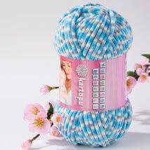 Kartopu Yumurcak Benekli Ebruli Kadife Bebek Yünü - Ymr0029