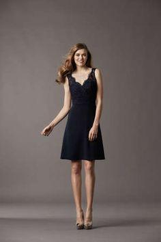 @Watters black bridesmaid dress