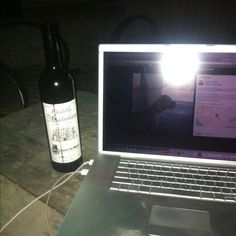 Backyard with wine courtesy of Peakness... Missing my friend!
