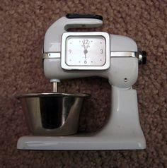Miniature 'Vintage' Look Elgin Kitchen Mixer Clock | eBay