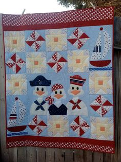 Quilt baby toddler wall hanging machine appliqué by PumsumHill