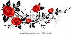 Rosas rojas, Creative, Rojo, Rose PNG y Vector Red Rose Flower, Flower Art, Red Roses, Butterfly Drawing, Floral Drawing, Bild Tattoos, Body Art Tattoos, Tatoos, Rose Vine Tattoos