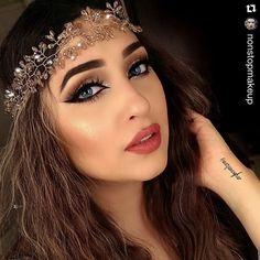 """#Repost @nonstopmakeup ・・・ Pretty girl @nazanasghar using 🌺Neutral Eye Shadow Palette @sigmabeauty…"""