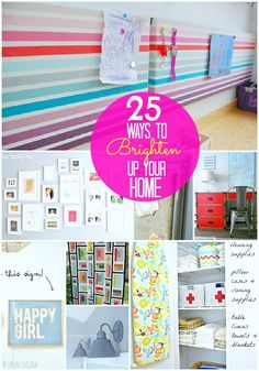 Great Ideas — 25 Ways to Brighten Up Your Home!! via @Jennifer Hadfield