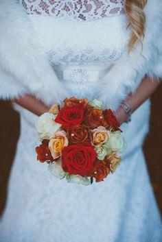 Bride and the boquet