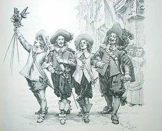 Dartagnan-musketeers. Dumas.