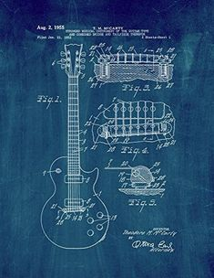 McCarty Stringed Musical Instrument Patent Print Art Poster Midnight Blue 24 x 36 >>> Check out the image by visiting the link.(It is Amazon affiliate link) #likeforlike
