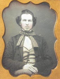 Daguerreotype Young Man Original Seals   eBay