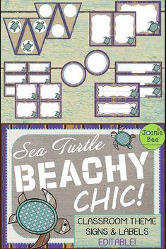 Sea Turtle Classroom Theme