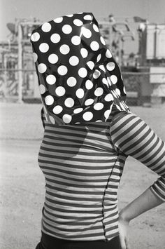 girl in dots and stripes - max shuster Red Bow Tie, Shy Girls, Riga, Black And White Pictures, Skin Tight, Polka Dots, My Style, People, Pattern