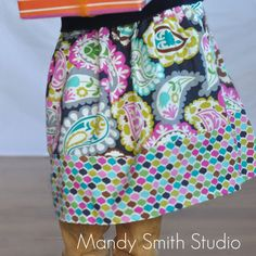 Banded Twirl Skirt  Jewled Paisley by EvienLizzie on Etsy, $18.99