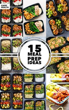 These meal prep ideas are perfect for the busy individual that doesn't have time to make multiple meals a day. Knock out the week ahead of you by prepping on Sunday or when you have a couple hours.