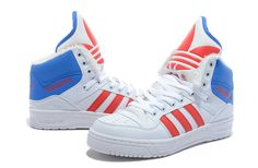 Adidas Jeremy Scott JS Wings Blanc Rouge Bleu Chaussures