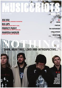 MUSIC&RIOTS Magazine 01  Featuring:  Marissa Nadler, Nothing, Lydia Loveless, Perfect Pussy, Xiu Xiu, Big Ups, Gwar, Have a Nice Life, Current 93, Alcest, Scott Kelly, Nymphomaniac, The Coathangers, Black Mare, INVSN, Pontiak, Carla Bozulich, Childbirth, Kurt Ballou, The Unsemble, Vulkano, Blessa, Thalia Zedek and much more...