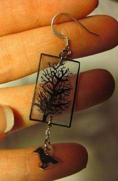 Shrinky Dink Tree Earrings - JEWELRY AND TRINKETS