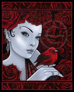 Myka Jelina Art Galleries - Fairy & Fantasy Artist Myka Jelina. Official Online Gallery. Fantasy Art, Gothic Faery Art, Tribal & Steam-Punk Fairies. Faerie Tattoos. Acrylic Paintings, Art Prints.