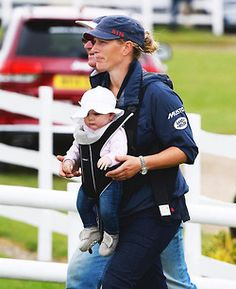 Zara Philips with her daughter, Mia Tindall