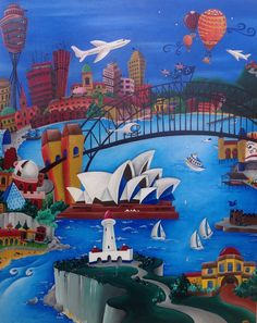 Sydney 2014 Acrylic on Canvas 130 cm x 100 cm