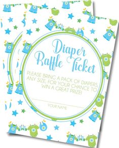 Boys Clothesline Diaper Raffle Tickets Pack Of Diapers, Diaper Raffle Tickets, Clothes Line, Baby Showers, Card Stock, Invitations, Writing, Boys, Prints