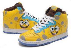 http://www.asneakers4u.com Nike Dunk High Spongebob Yellow Royal Blue K031381