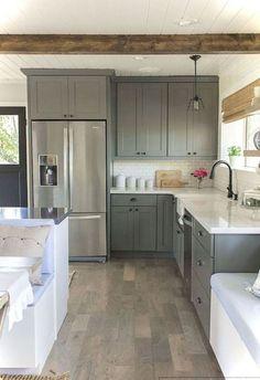 309ca045420 23 best modern farmhouse kitchen cabinets ideas