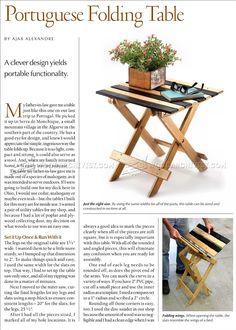Folding Table Plans