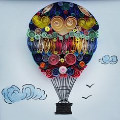 Quilled Paper Art I Believe I Can Fly - by: SenaRuna on Etsy