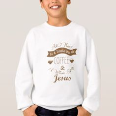 #Coffee Whole Lot Of Jesus Christian Funny T-Shirt - #funny #coffee #quote #quotes