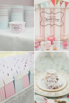 Pretty Pastels: Candy Buffet, Ice Cream Cups and Lolly Bags