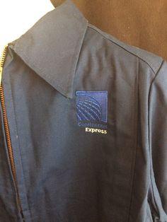 Continental Express Airlines Uniform Jacket Lion Apparel Zipper Reflector Sz 16    eBay