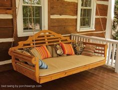 porch bed swign by porchswing.com Swing measurements