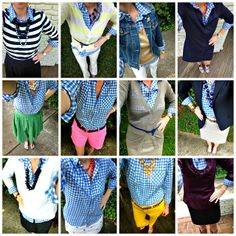 southern state of mind: 12 Days of Gingham (1 shirt/ 12 ways)