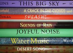 Book Spine Poetry Contest - wonderful idea for inspiring writing & excitement in libraries