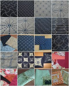 Japanese Sashiko embroidery patterns.