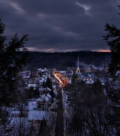 Northern Christmas. Stowe, Vermont