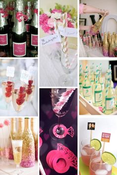 Bachelorette Party Cocktail Decor - A Complete Guide to the Best Bachelorette Party - Beaux and Belles: An Event Planning Blog